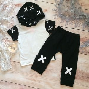 """Other - Boutique Baby Boy Trendy """"X"""" 2pc outfit"""